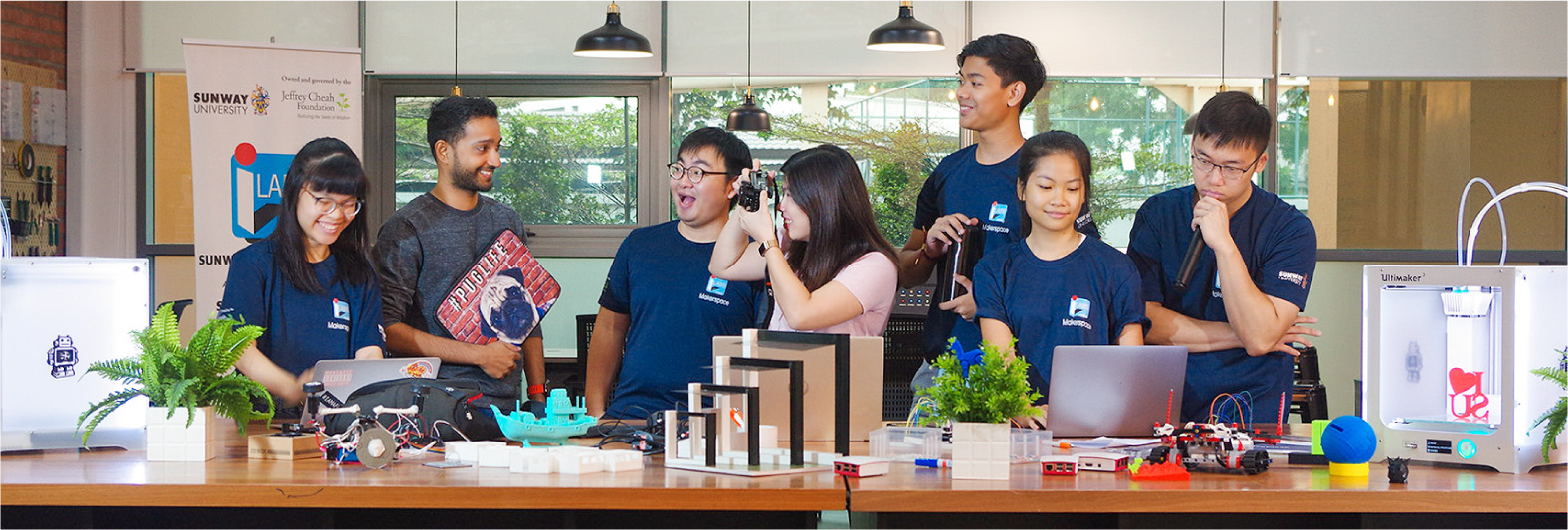 Sunway students at Sunway Makerspace